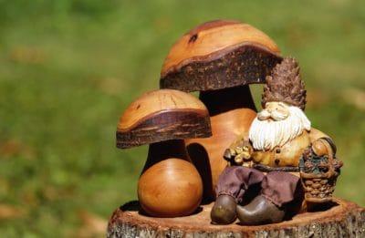 fungo, natura morta, giocattolo, legno, scultura, arte, bambola
