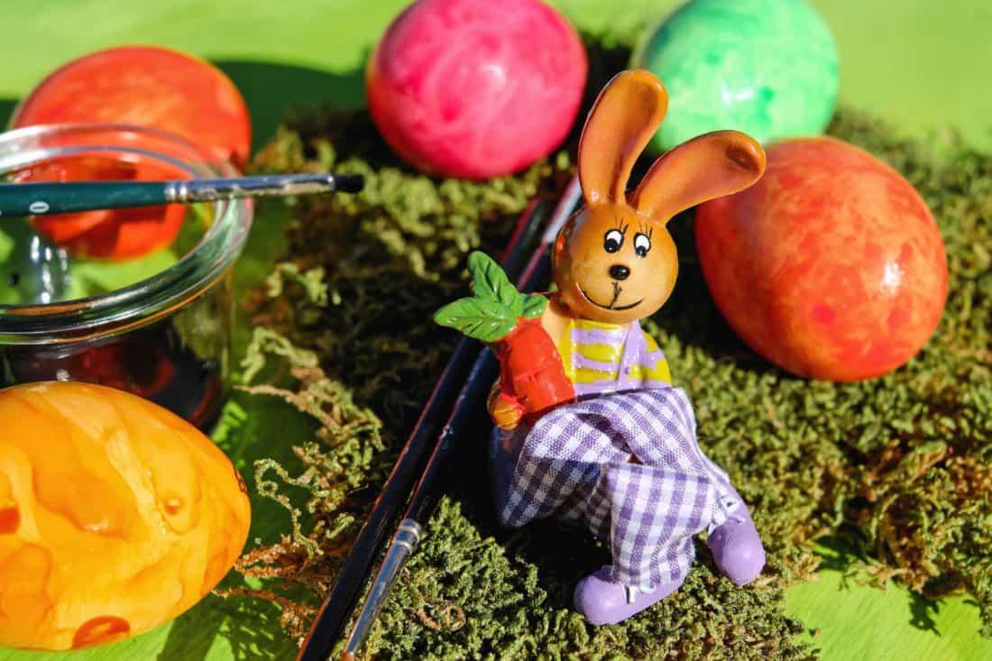 lapin, oeuf, Pâques, vacances, coloré, brosse, coloré