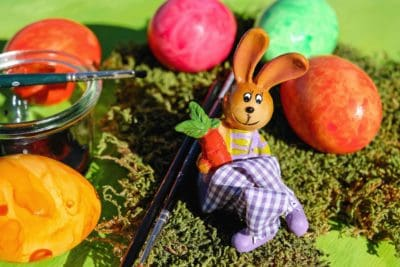rabbit, egg, Easter, holiday, colorful, brush, colorful