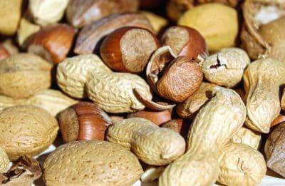 Hạt phỉ, đậu phộng, hạt giống, thức ăn, dinh dưỡng, hữu cơ, vĩ mô, chế độ ăn uống