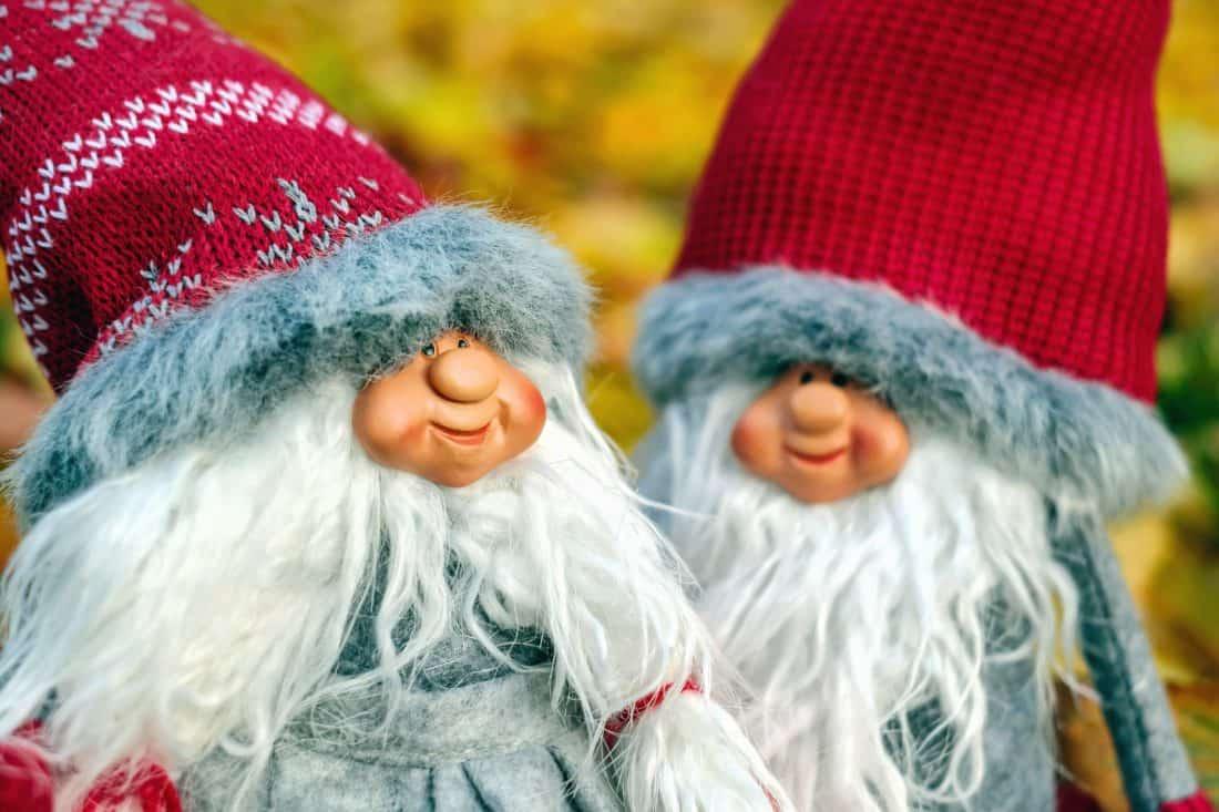 invierno, lana, muñeca, juguete, sombrero, barba