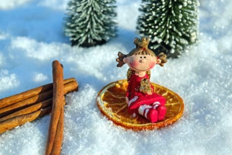 snow, winter, ice, tree, doll, figure, toyshop, fir tree, cold