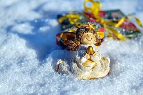 doll, toy, snow, decoration, winter, cold