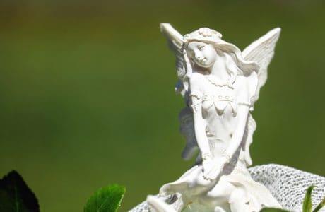 chica estatua, ángel blanco, escultura, arte