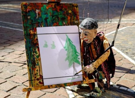 art, painting, doll, street, performance, artist