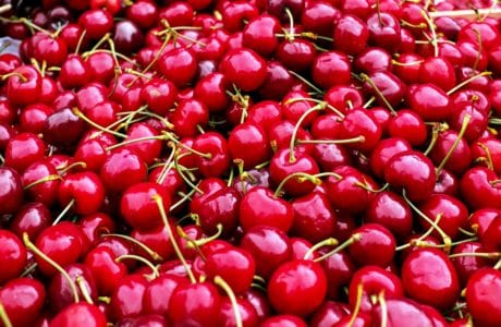 delicious, fruit, cherry, food, red, market, nutrition, vitamin