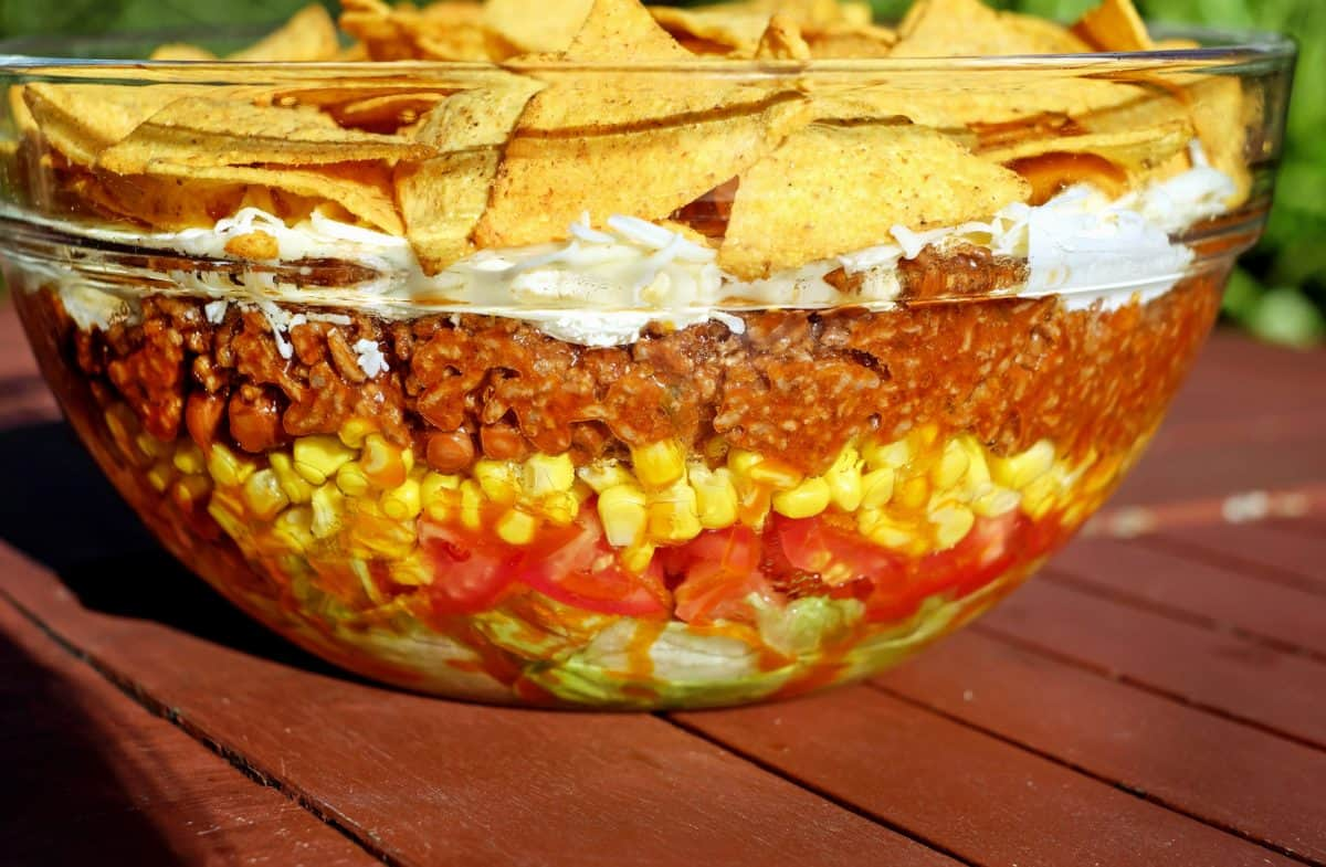 food, dessert, meal, glass, bowl, table, corn