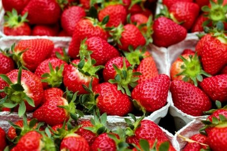 berry, strawberry, sweet, market, delicious, fruit, food