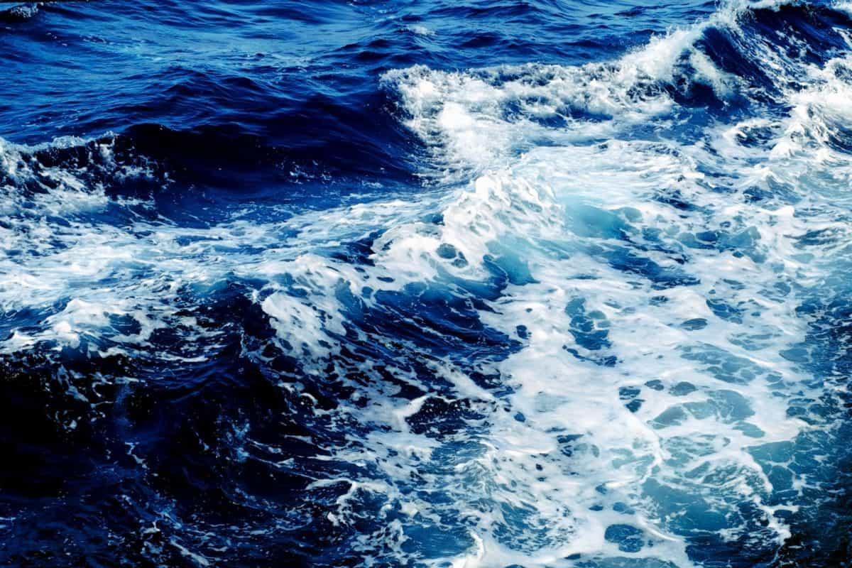 vague, mer, océan, eau, plein air