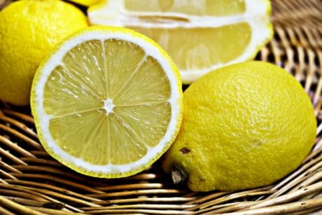wicker basket, citrus, fruit, food, lemon, slice, vitamin