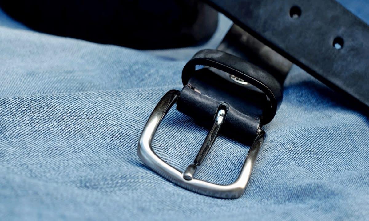 fashion, ceinture, cuir, métal, boucle