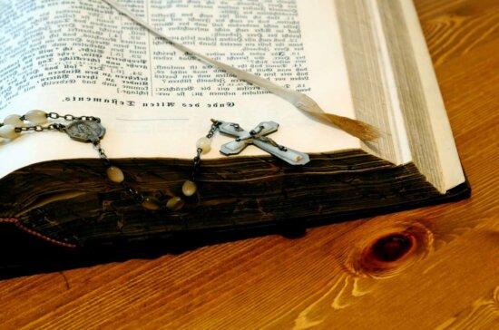wood, cross, book, bible, religion, reading
