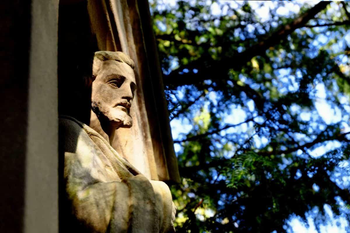 sculpture, statue, marbre, ancien, Pierre