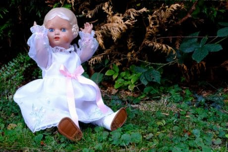 summer, toy, plastic, object, doll, outdoor, garden, dress