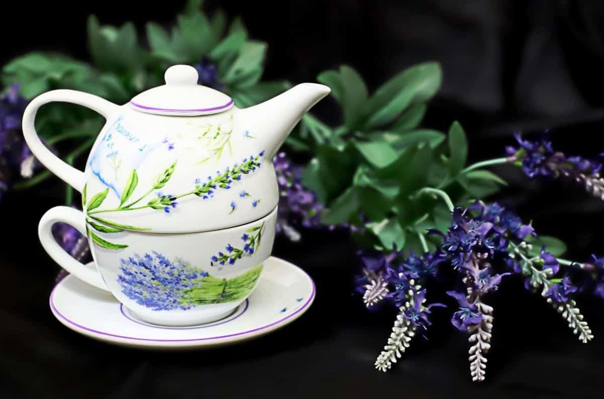 thé, tasse, objet, porcelaine, théière, pot, nature morte, soucoupe, boissons