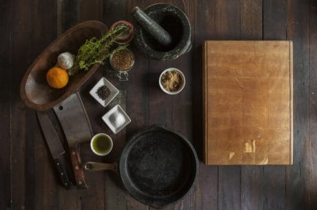 kitchen table, spice, wood, indoor