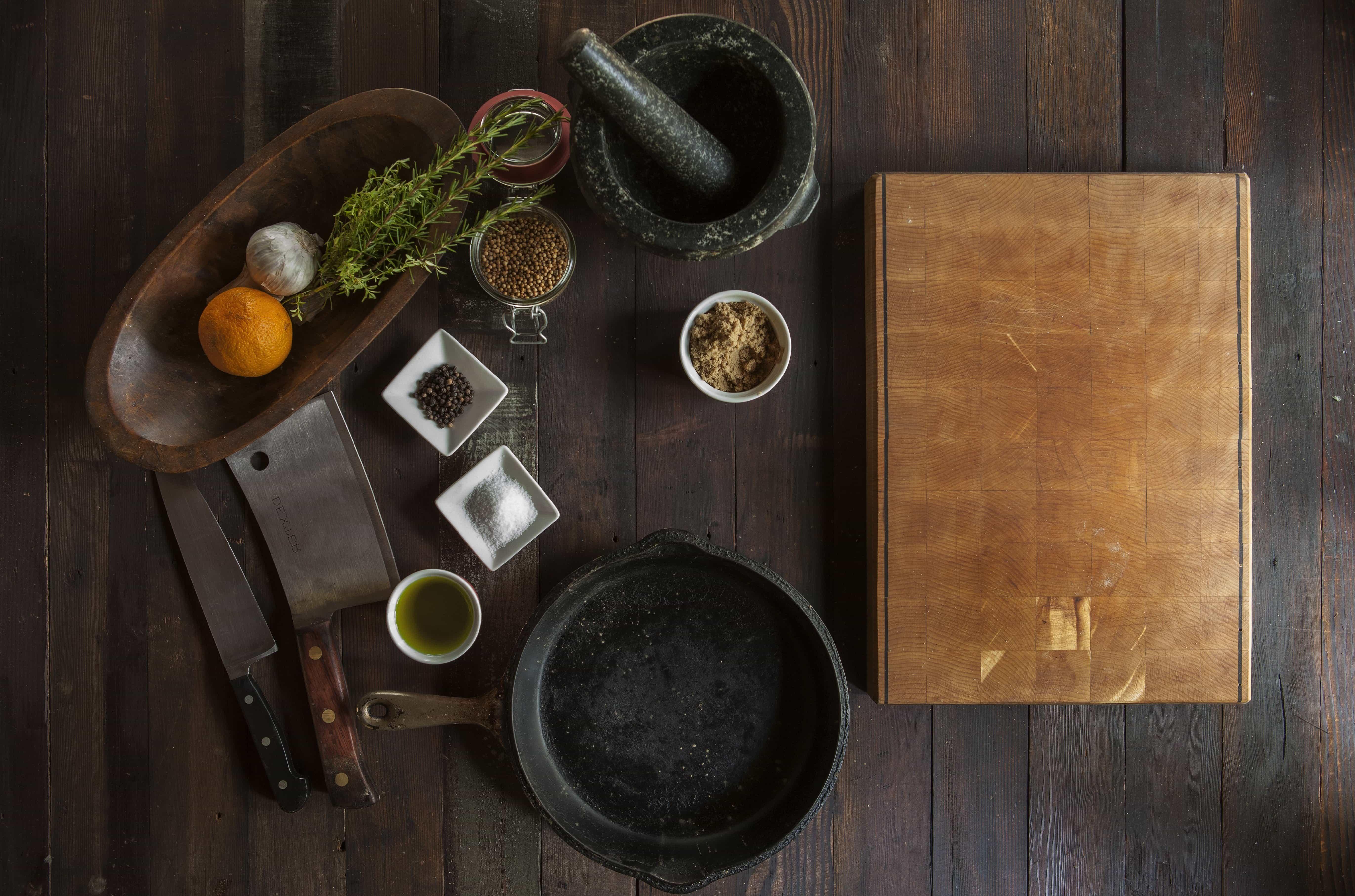 무료 사진 식탁 향신료 나무 실내