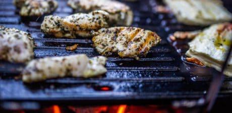 grilování, teplo, hovězí, maso, jídlo, steak, večeře, jídlo, oběd