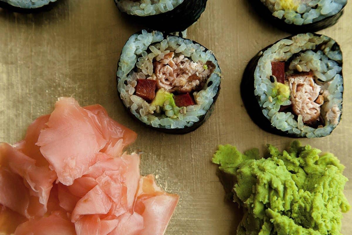 poisson, sushi, thon, nourriture, crevettes, apéritif, fruits de mer, riz, plat