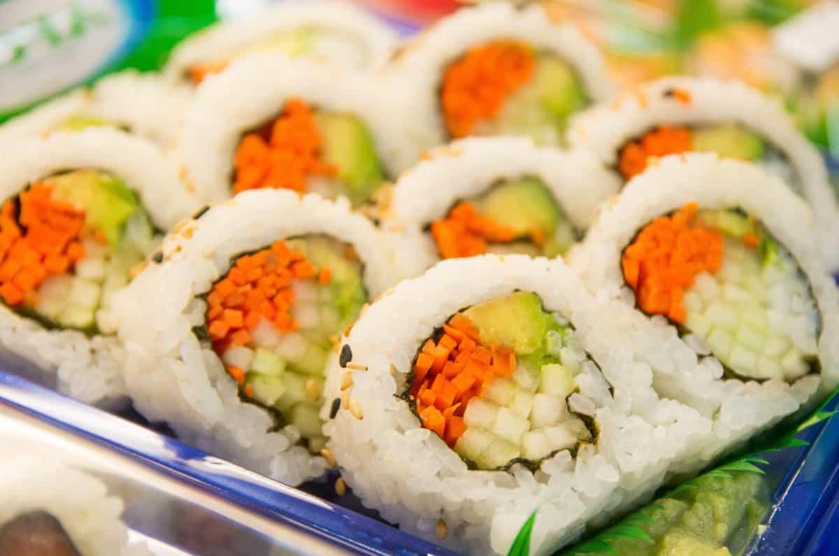 tun, laks, mad, appetitvækker, middag, skaldyr, ris, sushi, frokost