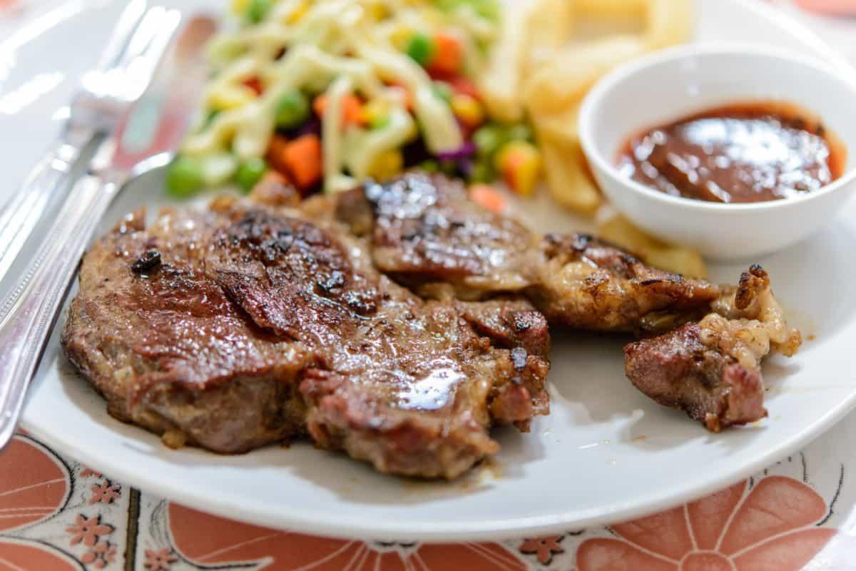 nourriture, dîner, barbecue, plat, repas, viande bovine, viande, porc, déjeuner
