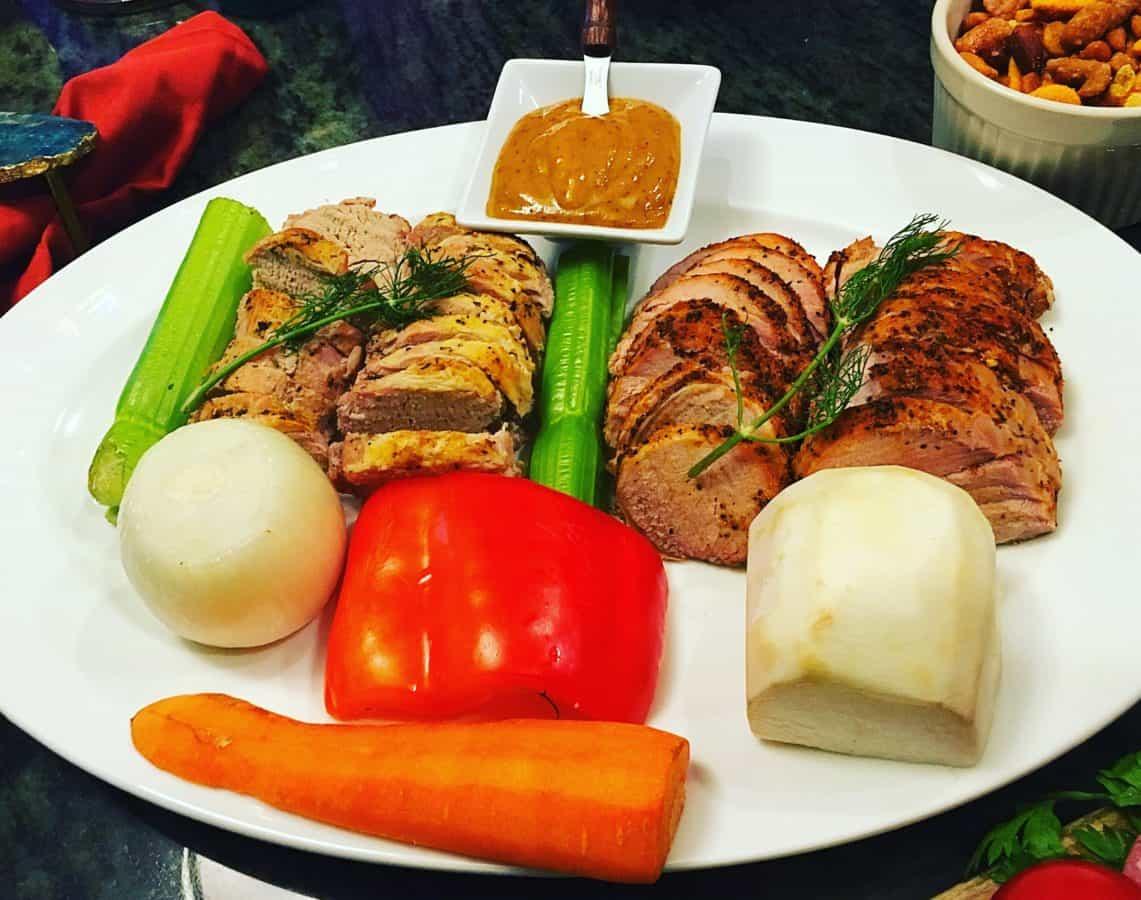 carne deliciosa, vegetal, frango, jantar, refeição, comida, almoço