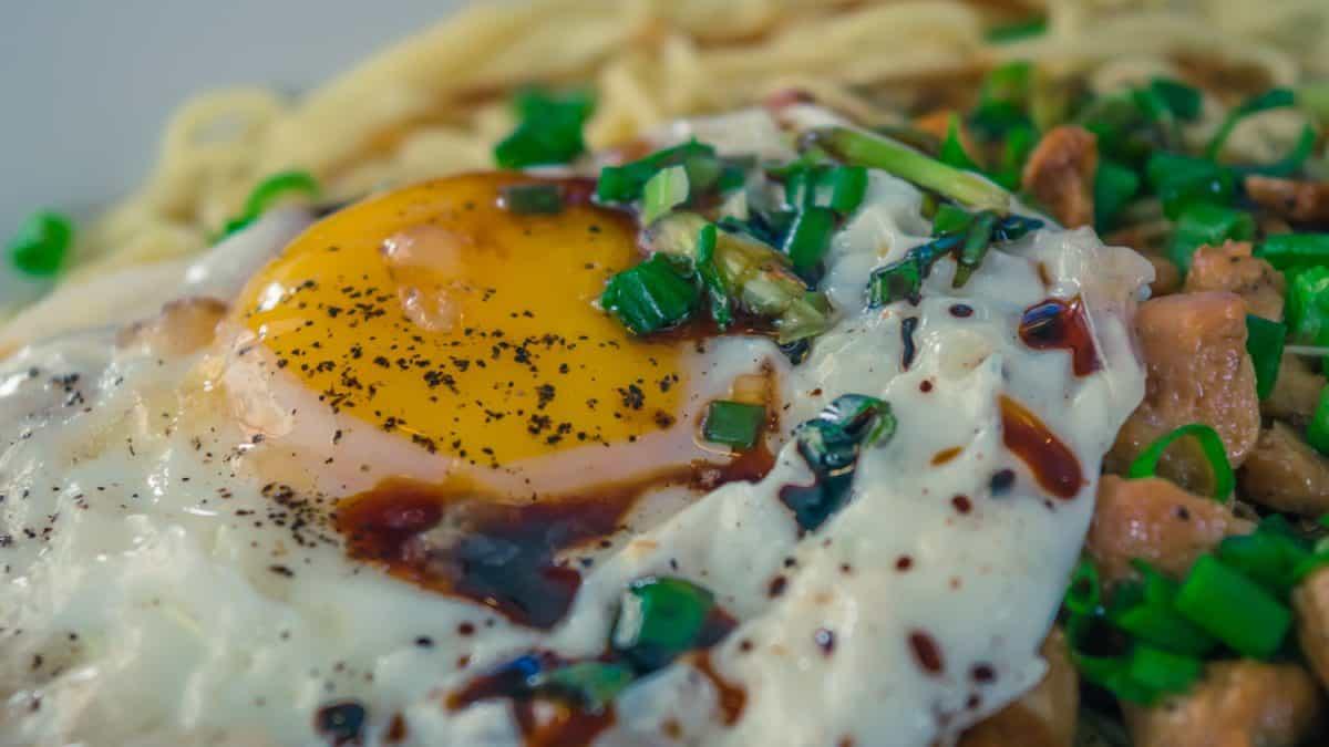 jídlo, vaječný žloutek, lahodné, oběd, snídaně, strava