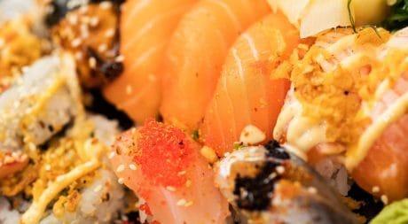 ngon, cá ngừ, ăn tối, cá hồi, cá, thực phẩm, hải sản, gạo, sushi