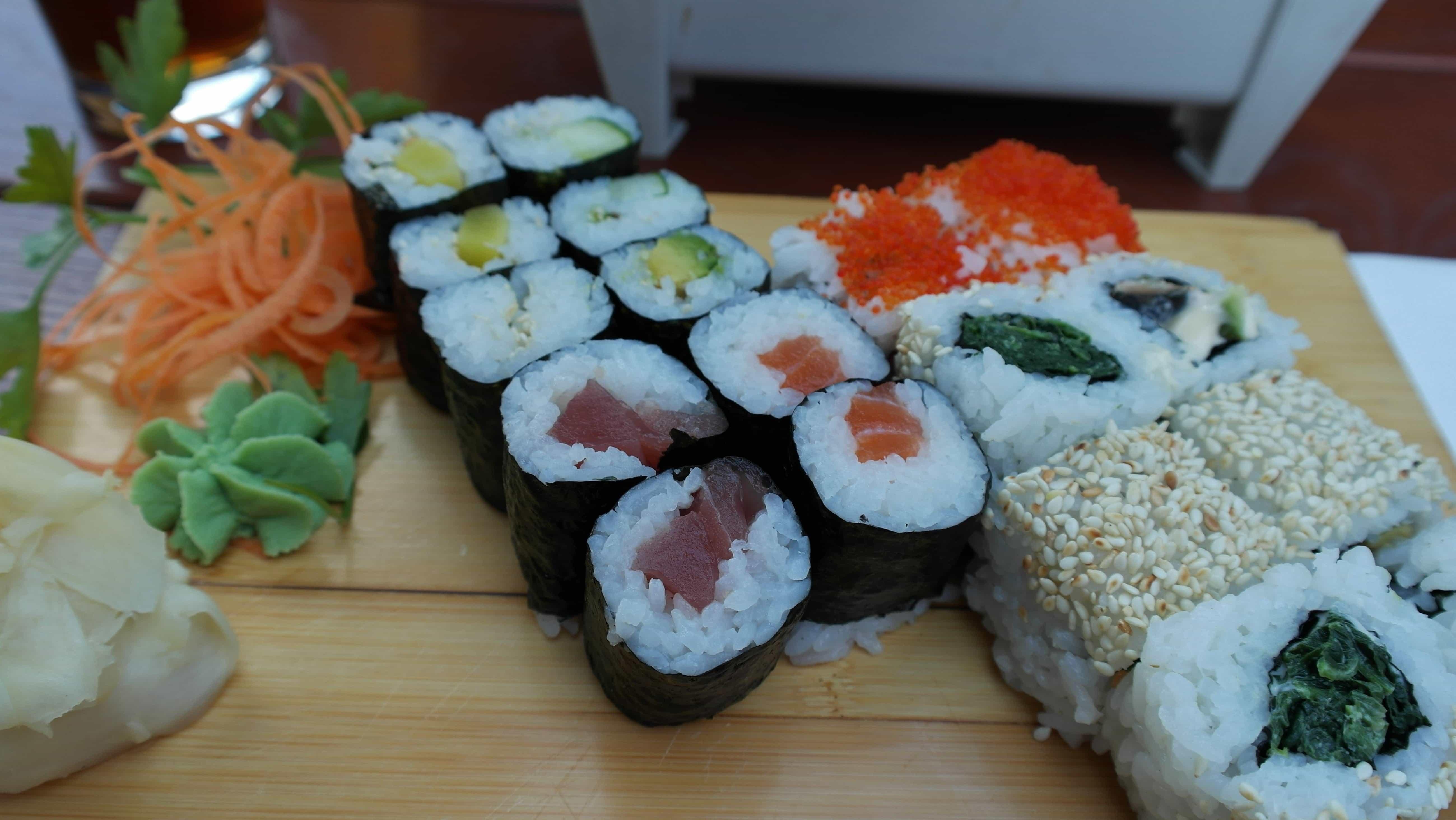 Kostenlose Bild: Essen, Kaviar, Küchentisch, Sushi, Reis ...