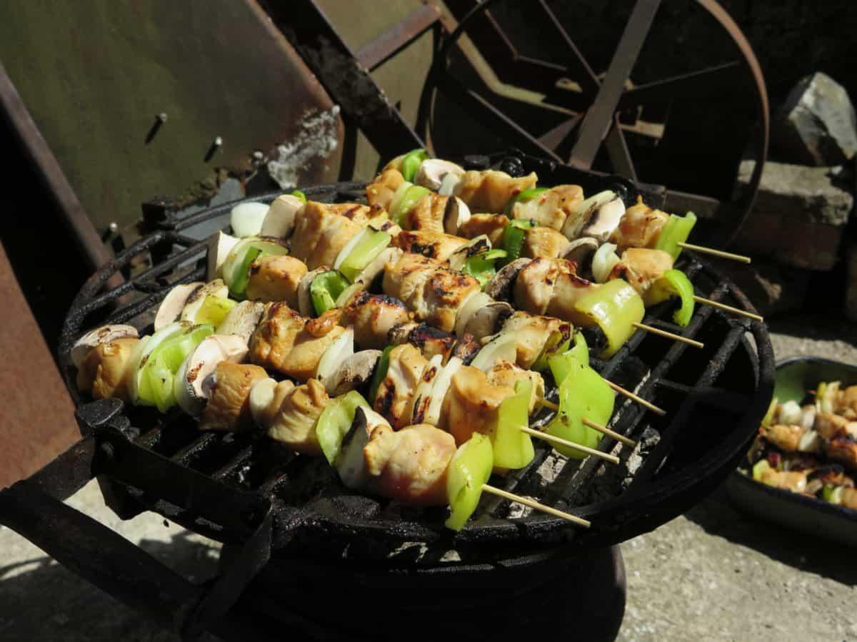 храна, дървени въглища, Барбекю, зеленчуци, Пан, брашно, лук