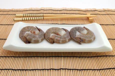 bambou, fruits de mer, nourriture, repas, sishi