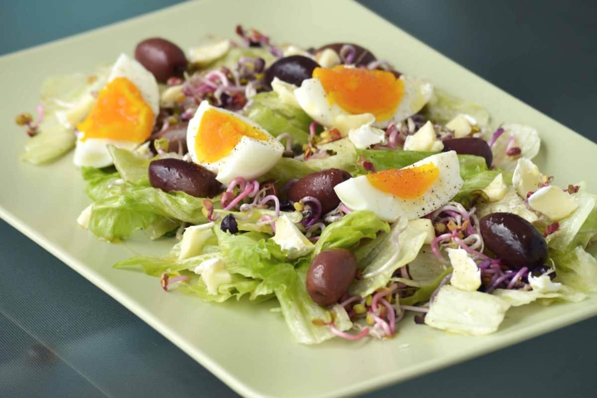 vegetable, dinner, salad, appetizer, lettuce, lunch, food