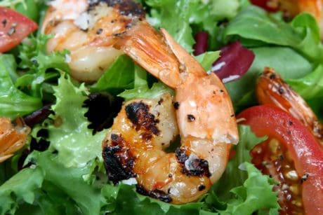 salad, meal, dinner, lunch, seafood, appetizer, delicious, lettuce