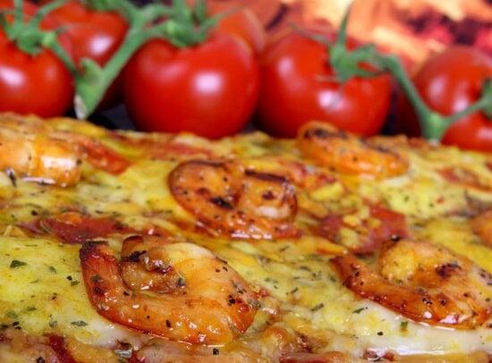 pepperoni, heerlijke, tomaat, diner, kaas, eten, pizza