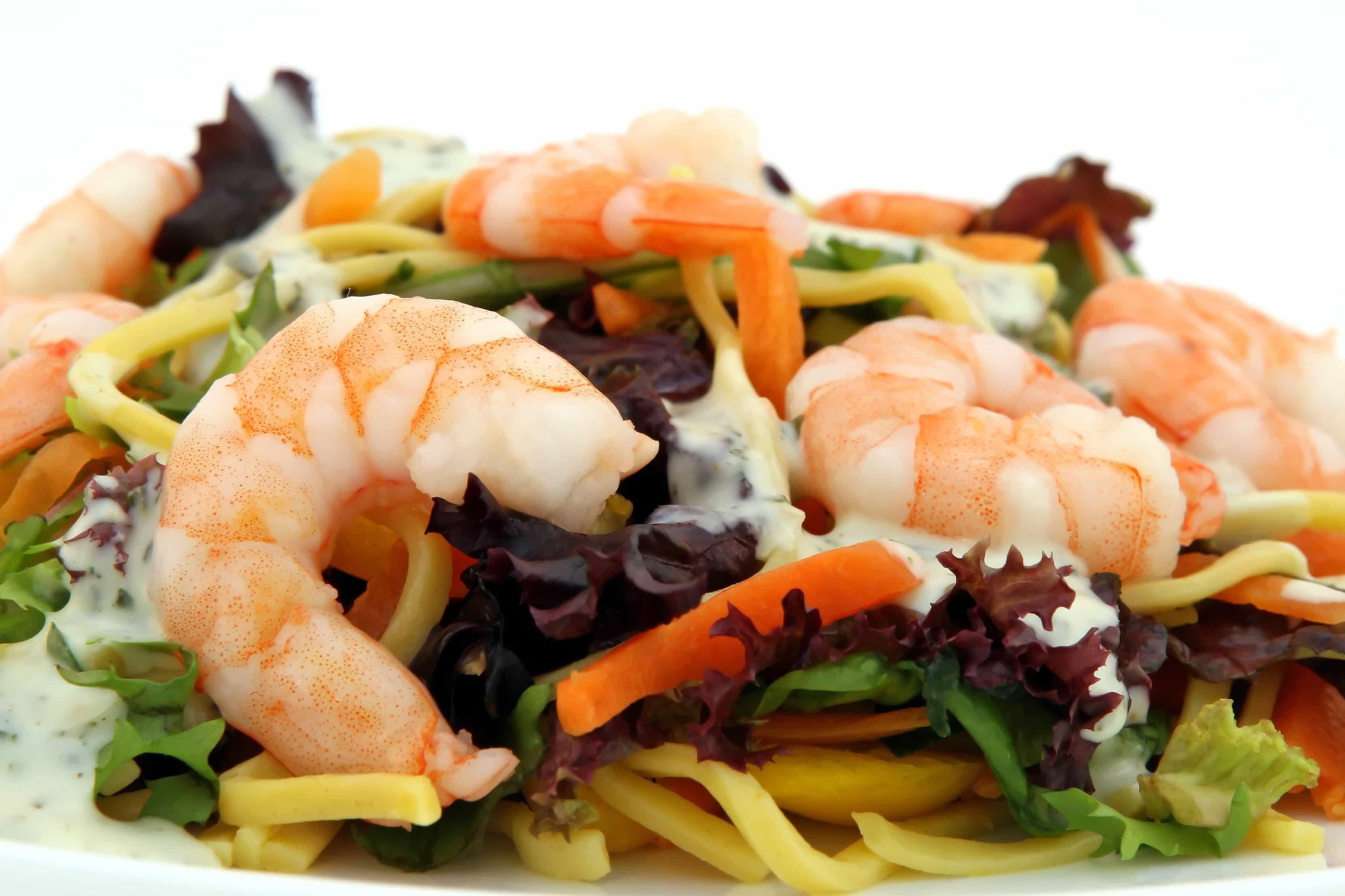 Gratis Billede Frokost Middag Retter Salat Lækre Rejer Skaldyr