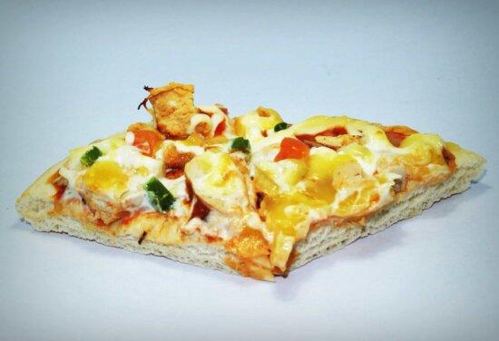 maaltijd, taart, tomaat, mozzarella, slice, pizza, voedsel, kaas