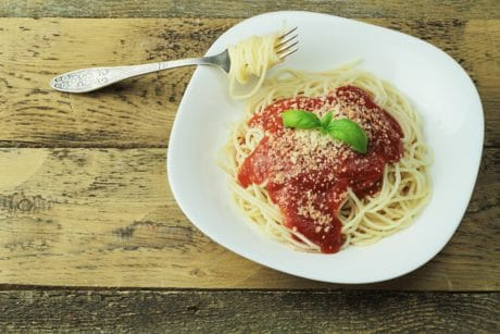 spaghetti, food, delicious, dinner, lunch, meal, dish, sauce, tomato