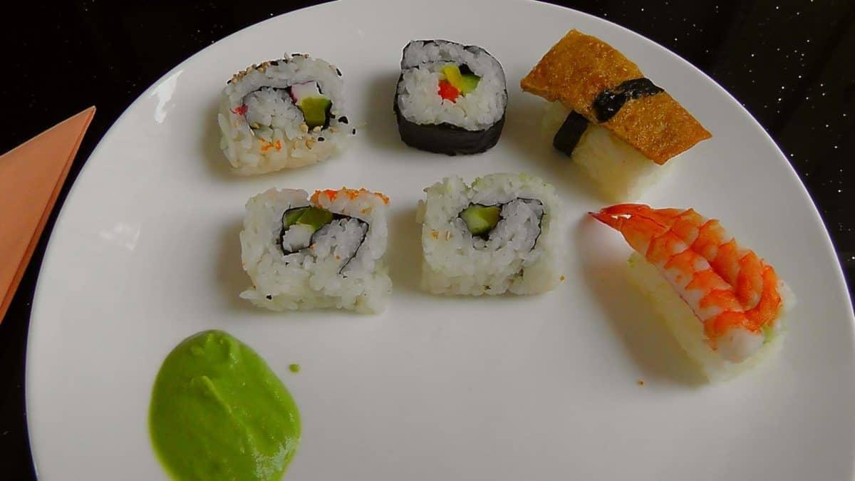 plodovi mora, večera, ribe, obrok, riže, suši, tune, hrana