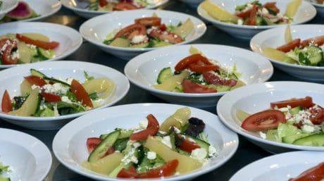 grønnsaker, mat, salat, forrett, middag, måltid, parabol, lunsj