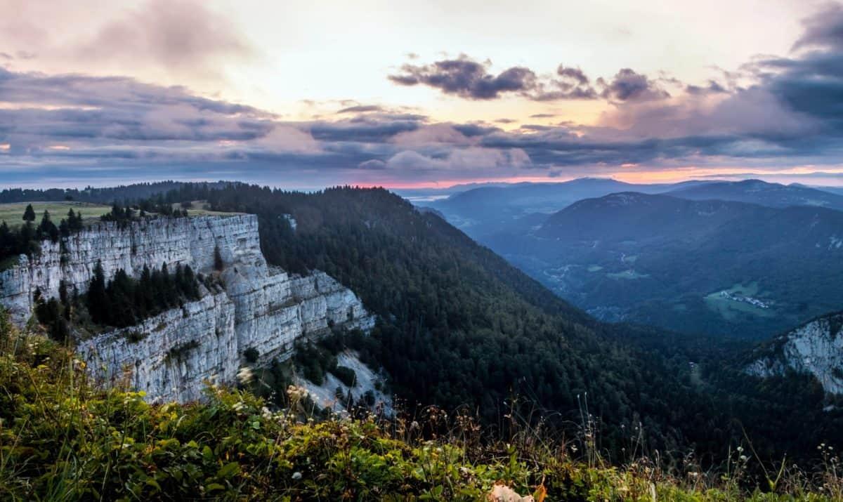 Fels, Klippe, Rasen, Himmel, Berg, Landschaft, Wald