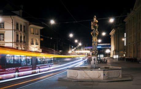 kota, Mobil, jalan, bus, jalan, kota, pusat kota, lalu lintas