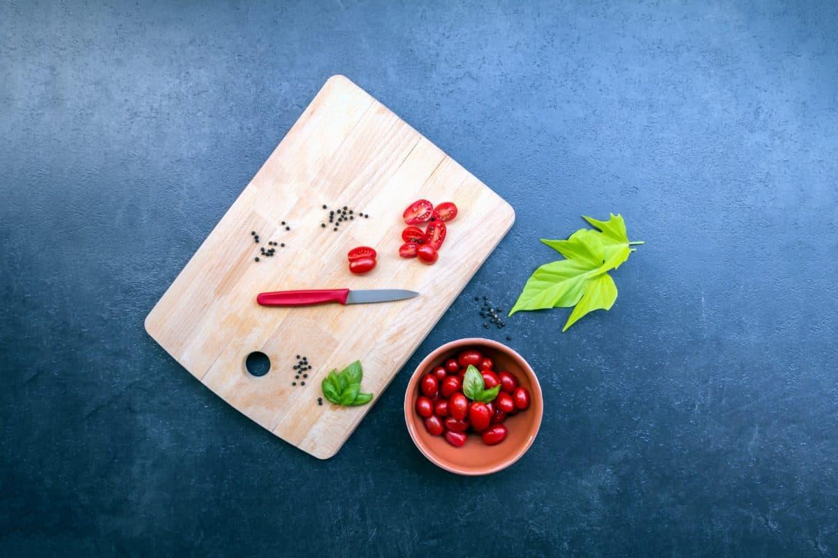 pepper, knife, wood, leaf, vegetables, spice, organic