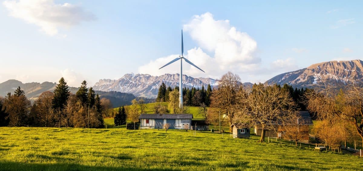 windmill, technology, wind, electricity, forest, mountain