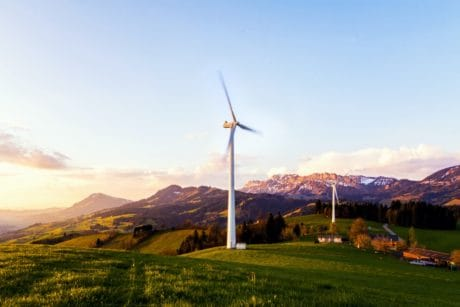 sky, landscape, nature, mountain, hill, turbine, wind, ecology, environment, electricity