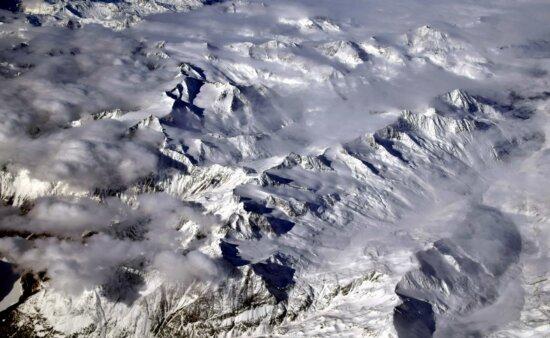 winter, cold, snow, mountain, ice, glacier, landscape, sky