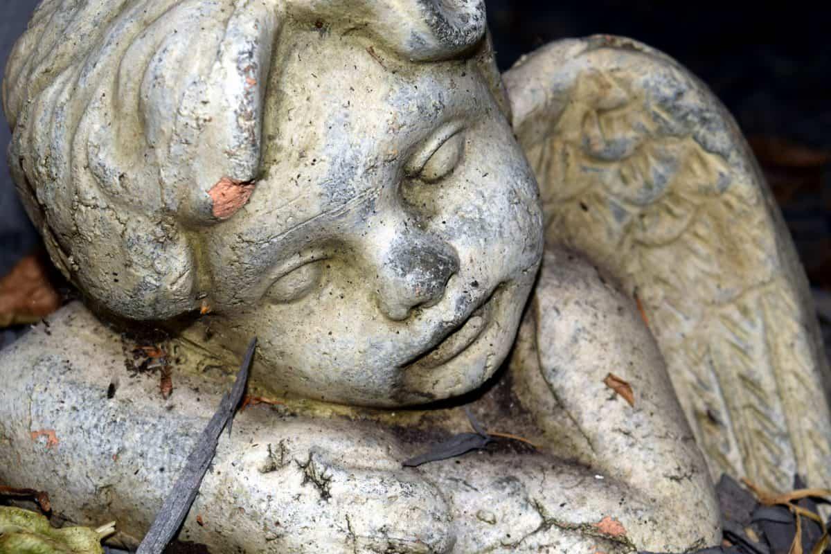 white angel, art, statue, sculpture, head, marble, sculpture