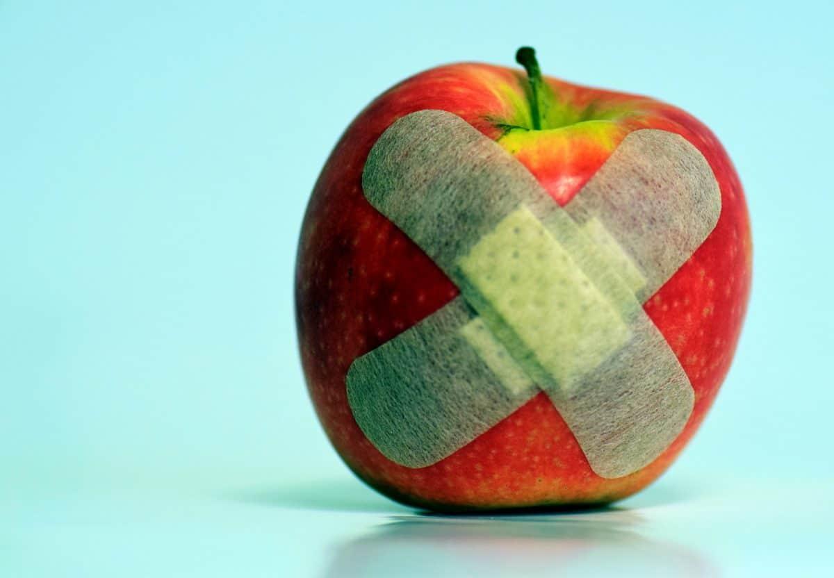 mat, frukt, eple, kosthold, selvklebende gips, dekorasjon