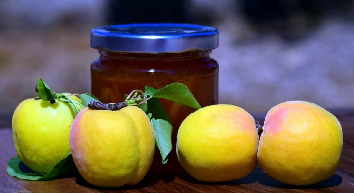 fruit, food, apple, jar, honey, glass, diet, vitamin, sweet, indoor