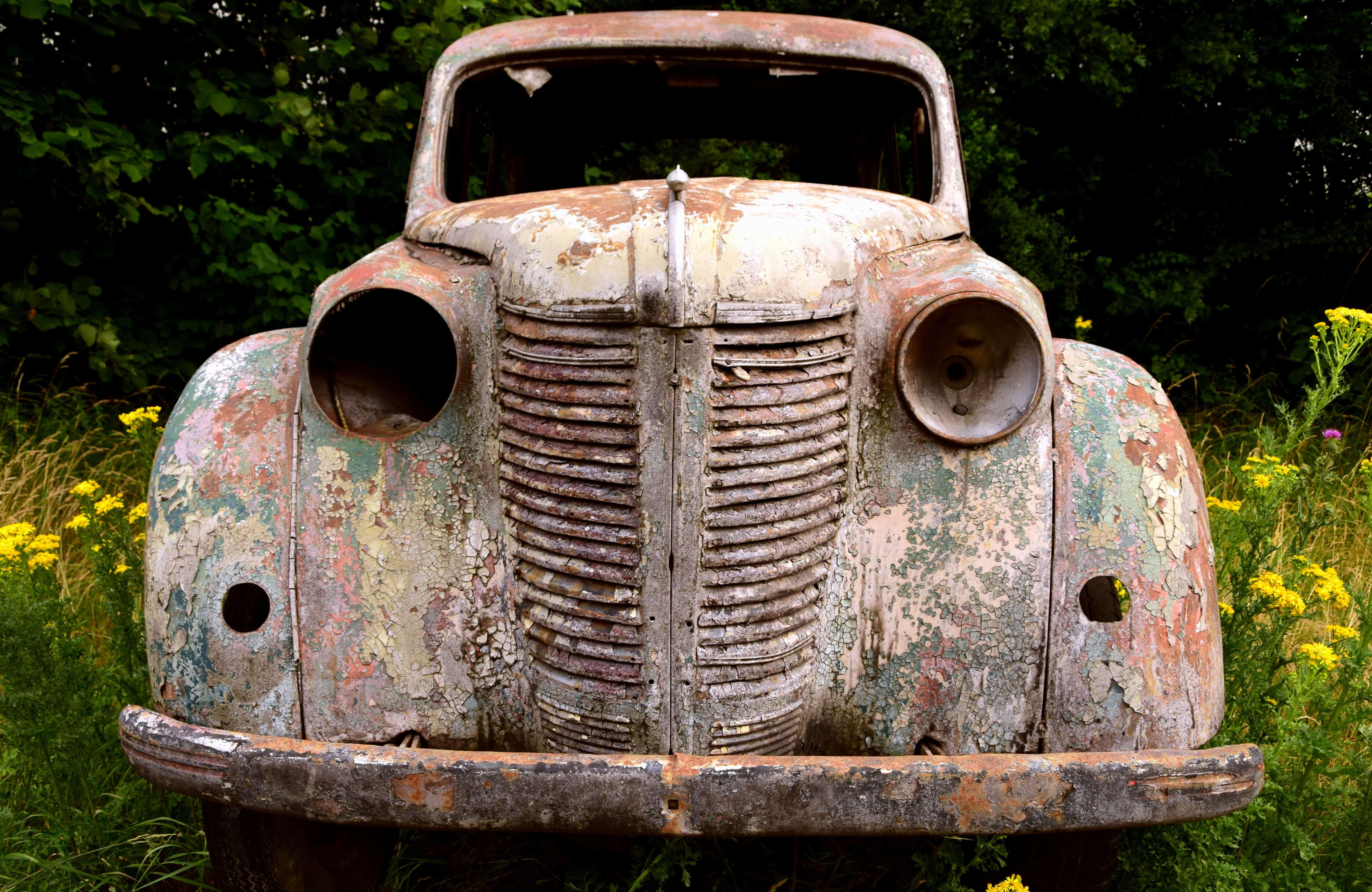 Free picture: classic, vehicle, retro, antique, old, car, automobile