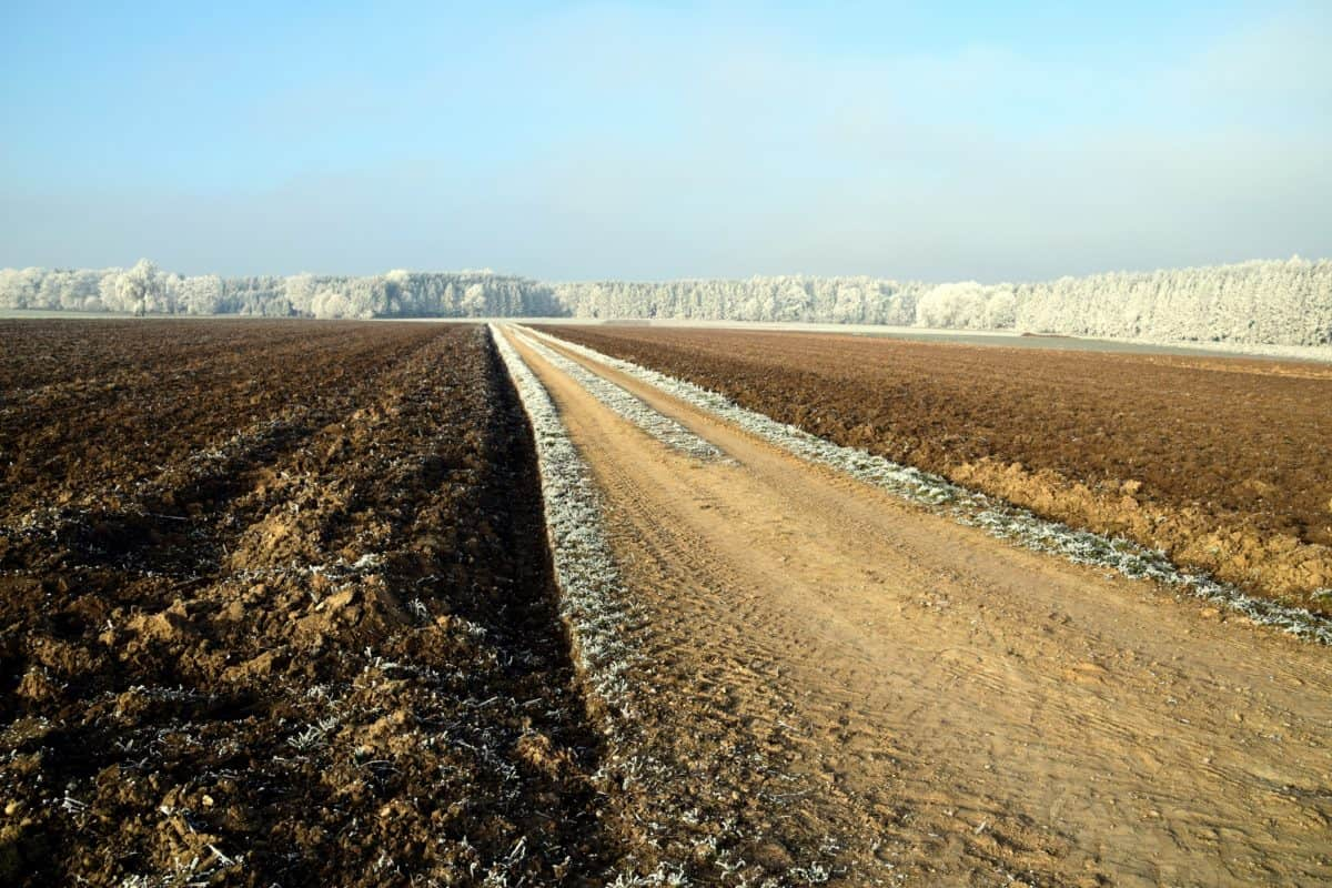 soil, agriculture, nature, sky, outdoor, road, snow, winter